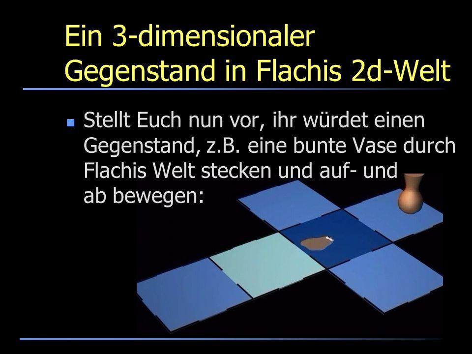 Ein 3-dimensionaler Gegenstand in Flachis 2d-Welt Stellt Euch nun vor, ihr würdet einen Gegenstand, z.B. eine bunte Vase durch Flachis Welt stecken un