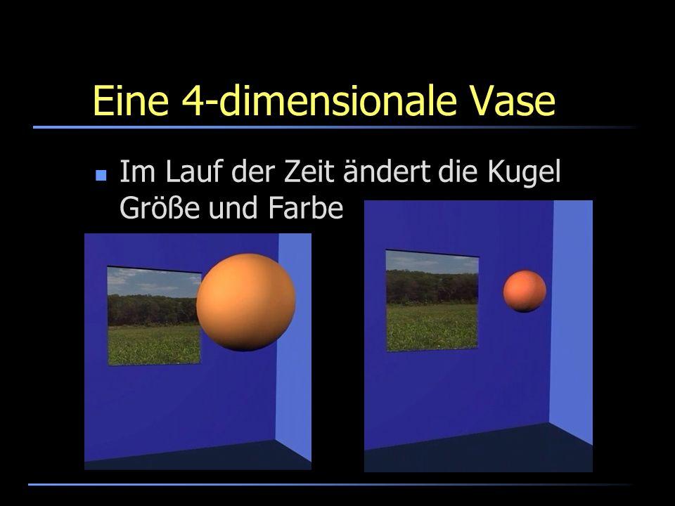 Eine 4-dimensionale Vase Im Lauf der Zeit ändert die Kugel Größe und Farbe