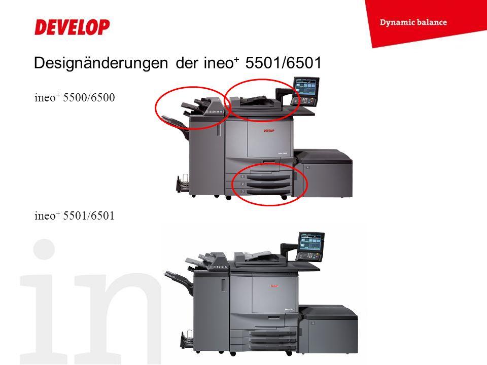 Designänderungen der ineo + 5501/6501 ineo + 5500/6500 ineo + 5501/6501