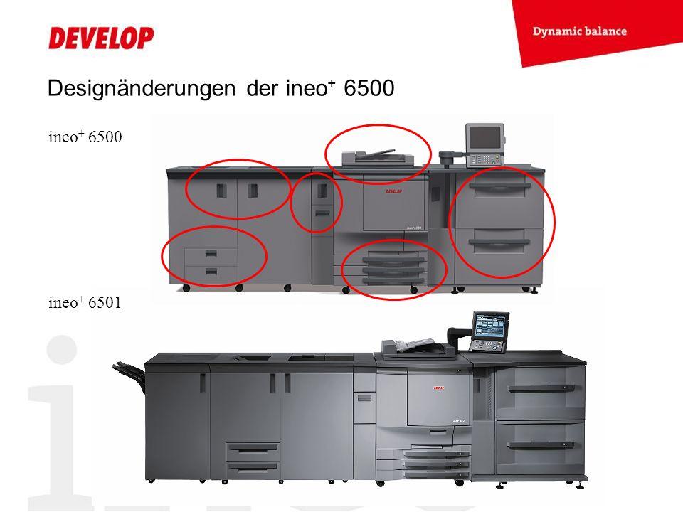 Designänderungen der ineo + 6500 ineo + 6500 ineo + 6501