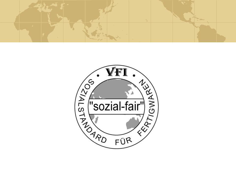 DOKUMENTATION Schriftliche Bestätigung der VFI-Standards und vertrauliche Dokumentation beim VFI sozial-fair/social-fair c/o VFI.