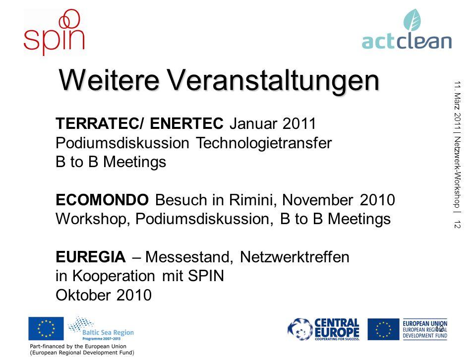 11. März 2011 | Netzwerk-Workshop | 11 11 Datenbank
