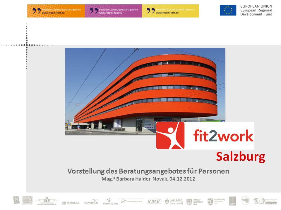 Vorstellung des Beratungsangebotes für Personen Mag. a Barbara Haider-Novak, 04.12.2012