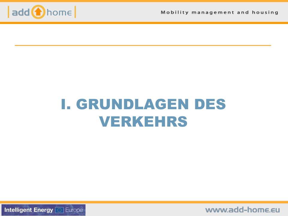 I. MODAL SPLIT Verkehrsmittelaufteilung in Europa FUSS FAHRRAD PKW ÖPNV