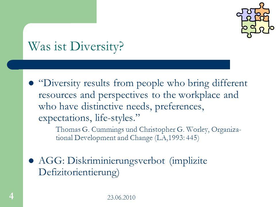 23.06.2010 15 Wie können Sie (mehr) Diversity erreichen.