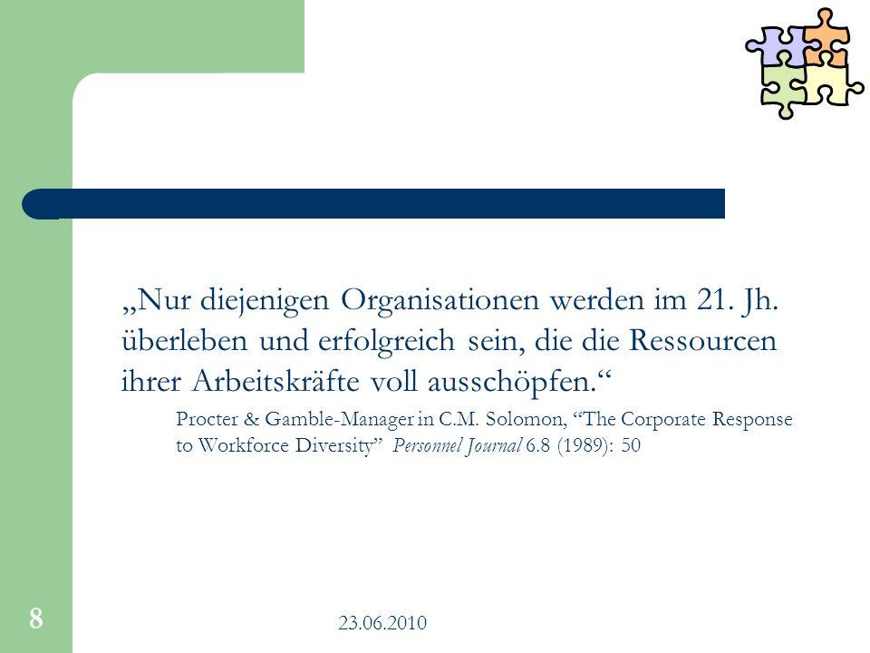 23.06.2010 9 DM für die Kommunalverwaltung Stellt den individuellen Menschen in den Mittelpunkt 1.