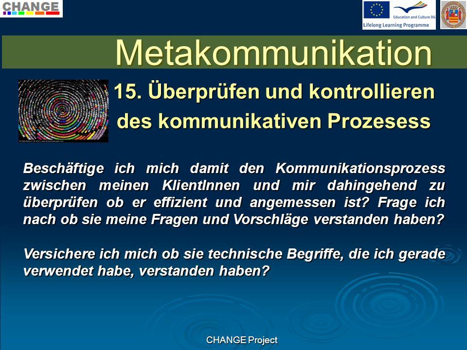 CHANGE Project Metakommunikation 15.
