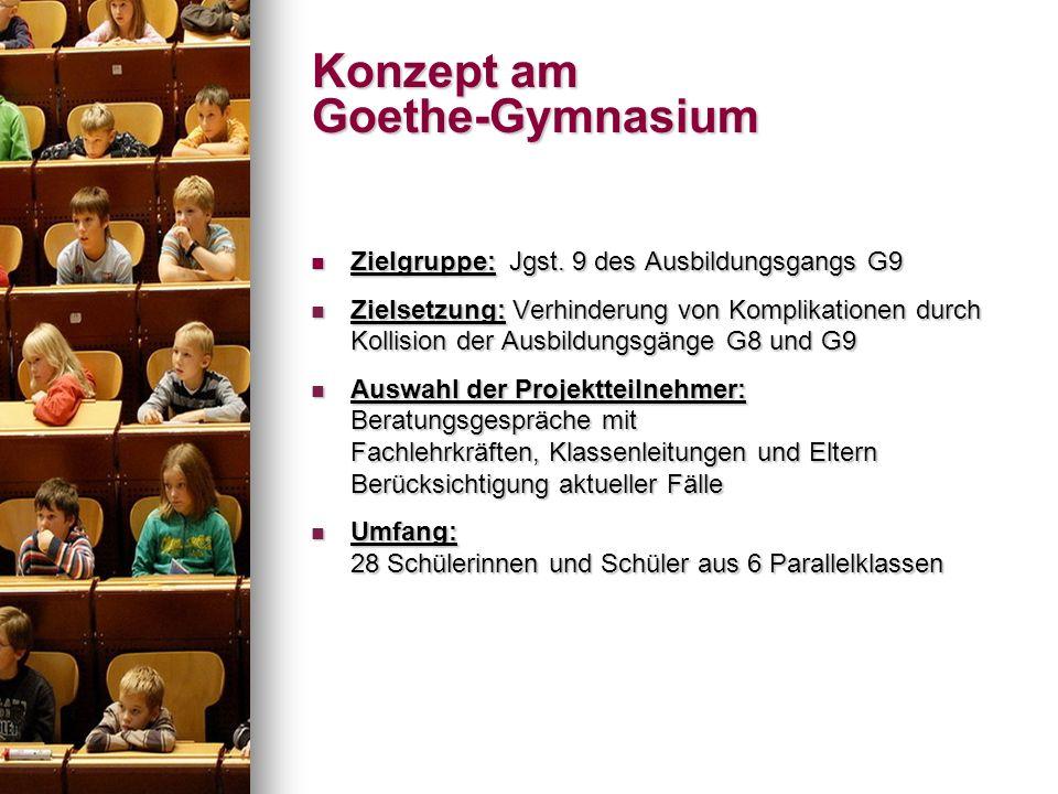 Zielgruppe: Jgst. 9 des Ausbildungsgangs G9 Zielgruppe: Jgst. 9 des Ausbildungsgangs G9 Zielsetzung: Verhinderung von Komplikationen durch Kollision d