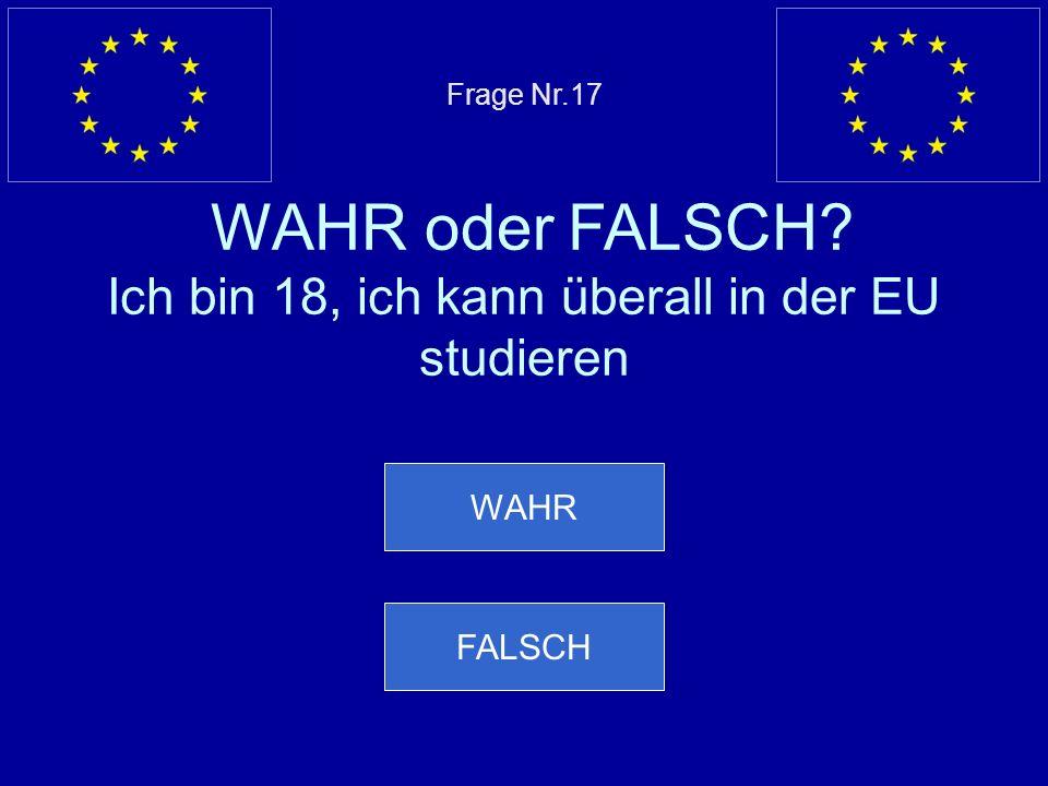 Falsche Antwort… FALSCH ist richtig, die europäischen Beamten zahlen Einkommenssteuer, MwSt. Und KFZ Steuern Nächste Frage