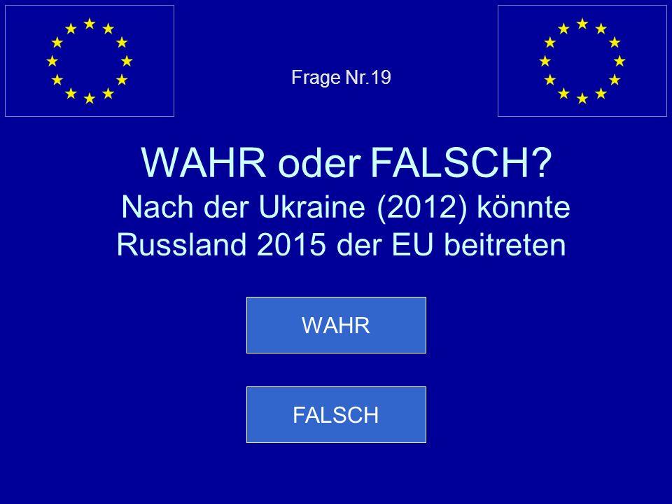 Falsche Antwort… FALSCH ist richtig, die USA haben weniger Einwohner als die EU Nächste Frage