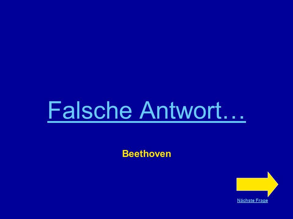 Richtige Antwort !!! Beethoven Nächste Frage