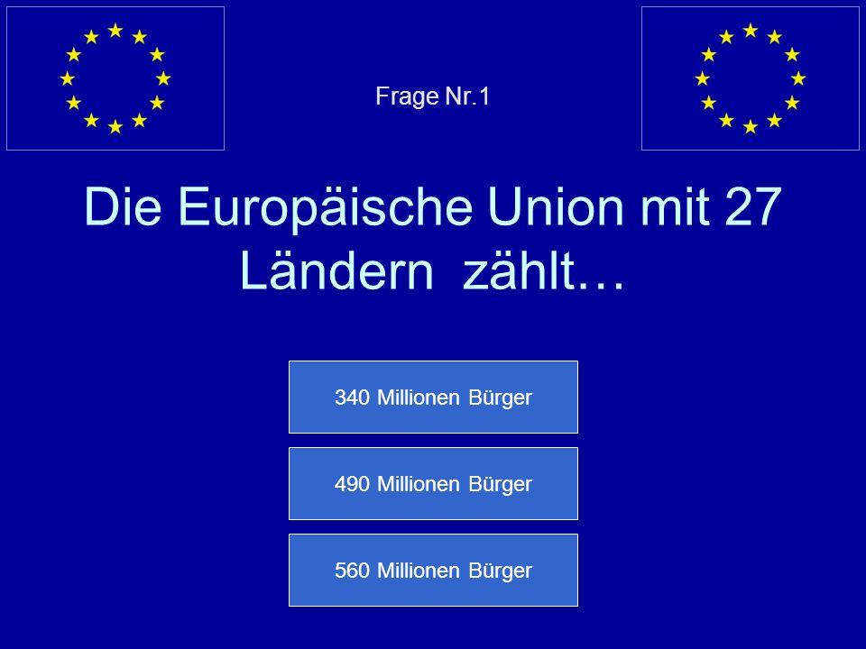 Willkommen bei dem Europa Quiz ! Anfangen