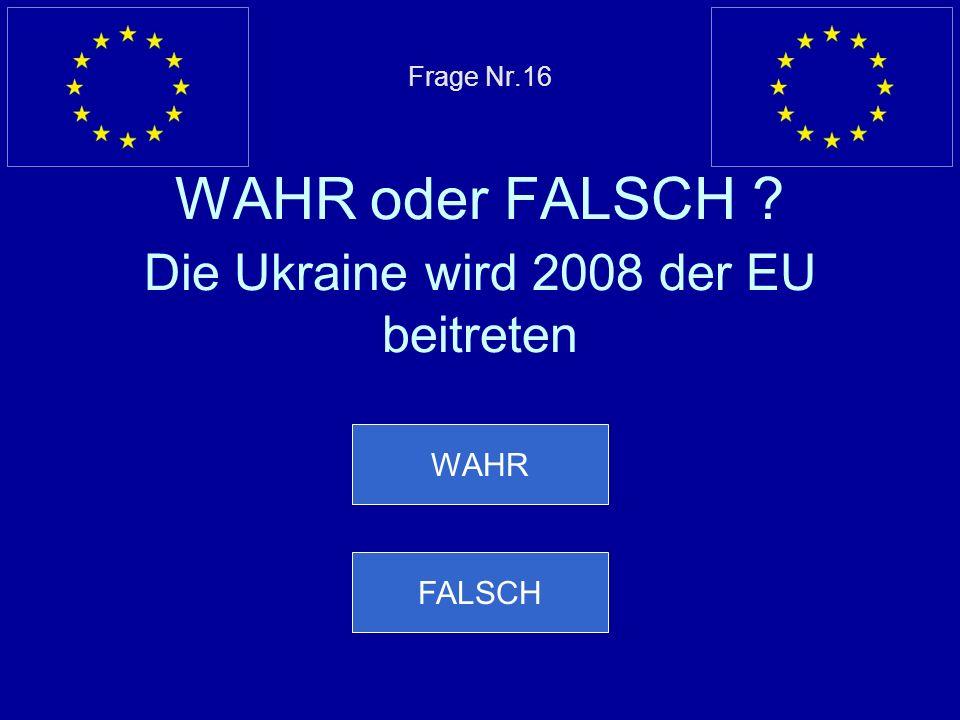 Falsche Antwort… 1973 treten Irland, Dänemark und Großbritannien der EU bei Nächste Frage
