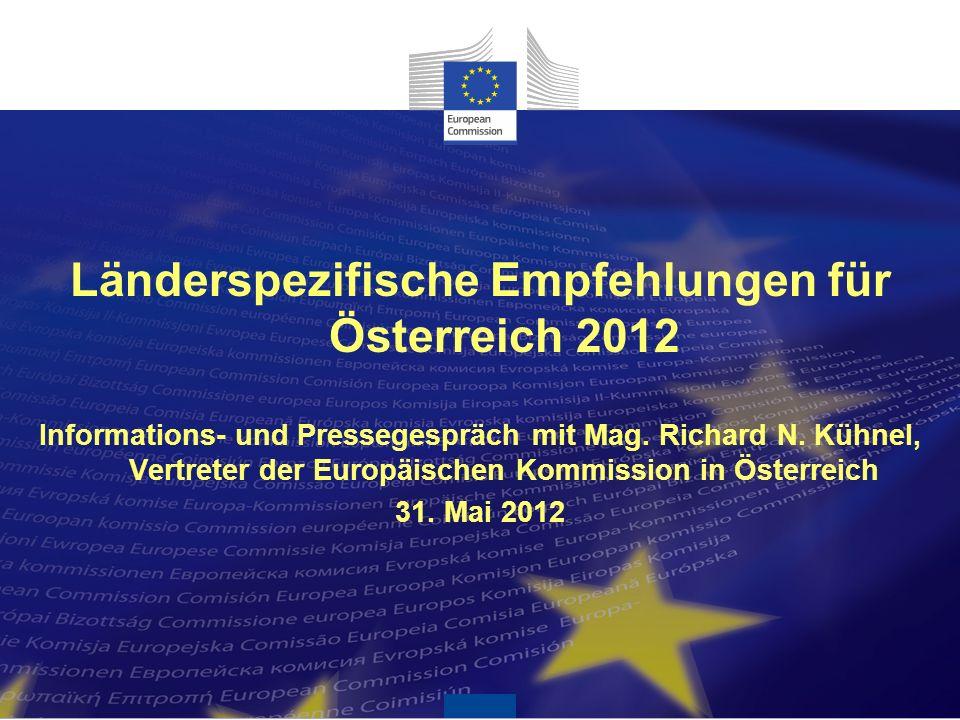 Länderspezifische Empfehlungen für Österreich 2012 Informations- und Pressegespräch mit Mag.