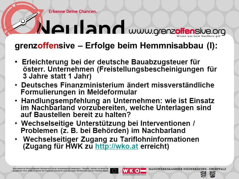 Erleichterung bei der deutsche Bauabzugsteuer für österr. Unternehmen (Freistellungsbescheinigungen für 3 Jahre statt 1 Jahr) Deutsches Finanzminister