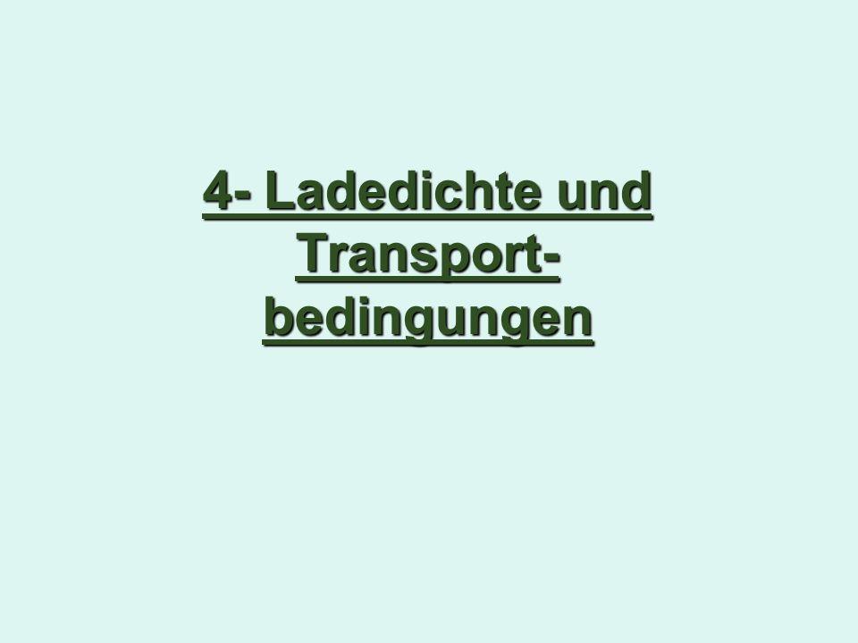 4- Ladedichte und Transport- bedingungen