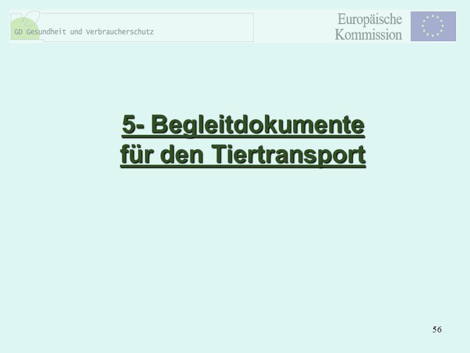 56 5- Begleitdokumente für den Tiertransport