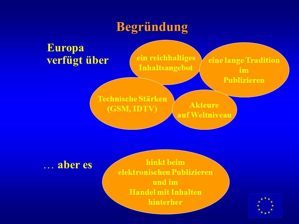 Umfeld und Hintergrund Politischer Hintergrund Die Inhaltsindustrien schaffen einen Mehrwert, indem sie die kulturelle Vielfalt Europas nutzen und ver