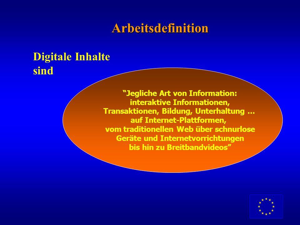 Ein marktorientiertes Programm Entwicklung und Nutzung von europäischen digitalen Inhalten in globalen Netzen anregen und sprachliche Vielfalt in der
