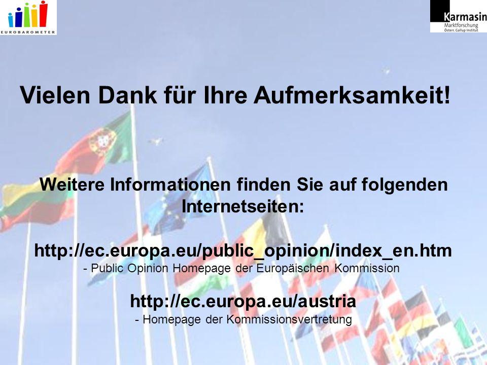 Weitere Informationen finden Sie auf folgenden Internetseiten: http://ec.europa.eu/public_opinion/index_en.htm - Public Opinion Homepage der Europäisc