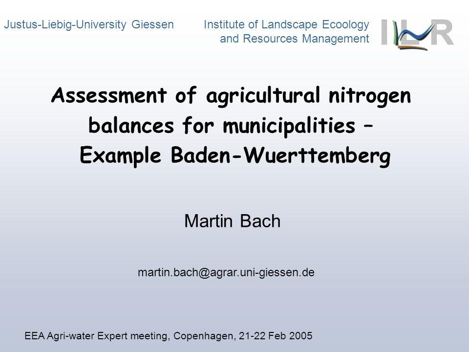 Institute of Landscape Ecology and Resources Management Hydrogeologische Großeinheiten BrunnenQuellen (SQS) nr2r2 nr2r2 Hessen gesamt811,4151057,406 Nordhessisches Buntsandsteingebiet91,56982,709 Niederh.