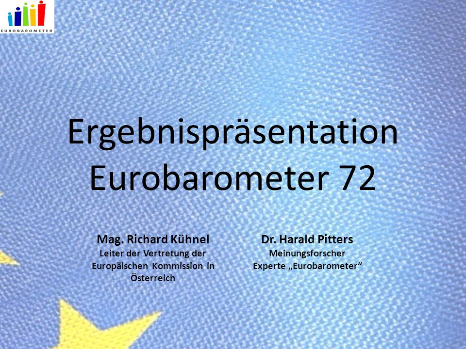 Ergebnispräsentation Eurobarometer 72 Mag.