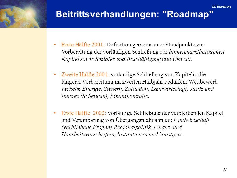 GD Erweiterung 38 Beitrittsverhandlungen: