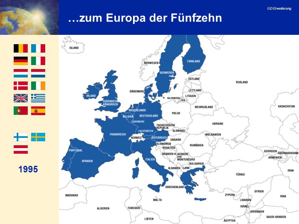 GD Erweiterung 28 Europäischer Rat von Göteborg Die Beschlüsse des Europäischen Rates von Göteborg, stellen den Durchbruch in den Erweiterungsverhandlungen dar: Der Prozess der Erweiterung ist unumkehrbar; Die Wegskizze (roadmap) bietet den Rahmen für eine erfolgreiche Beendigung der Erweiterungsverhandlungen; Eine Beendigung der Verhandlungen mit den am weitesten fortgeschrittenen Bewerberländern sollte gegen Ende 2002 möglich sein.