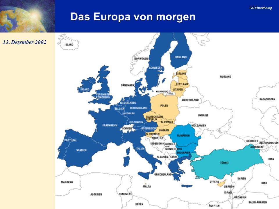 GD Erweiterung 10 Vertrag über die Europäische Union (EUV) Artikel 49 des EUV: jeder europäische Staat, der die in Artikel 6 (1) genannten Grundsätze achtet, kann beantragen, Mitglied der Union zu werden...