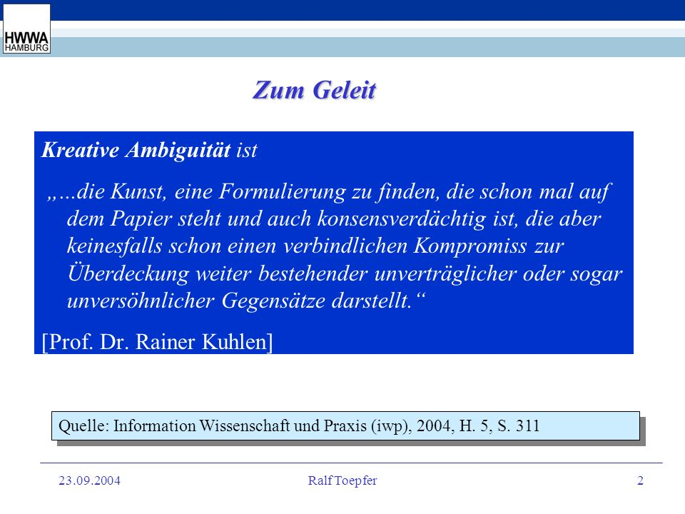 23.09.2004Ralf Toepfer12 VI.