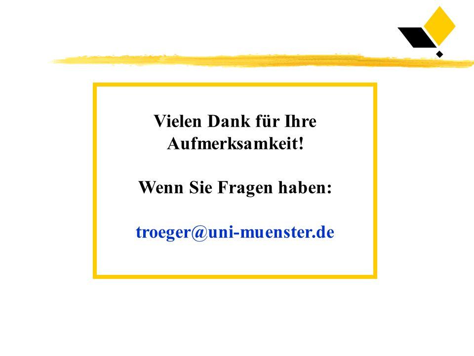 Vielen Dank für Ihre Aufmerksamkeit! Wenn Sie Fragen haben: troeger@uni-muenster.de