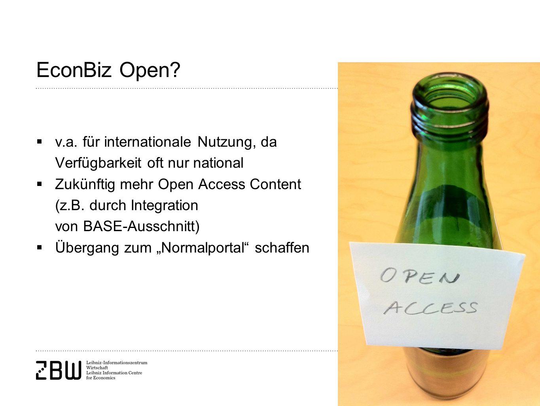 Seite 11 EconBiz Open. v.a.