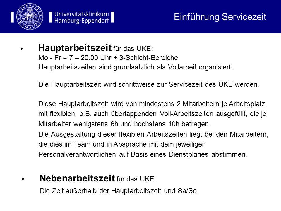 Nebenarbeitszeit für das UKE: Die Zeit außerhalb der Hauptarbeitszeit und Sa/So.