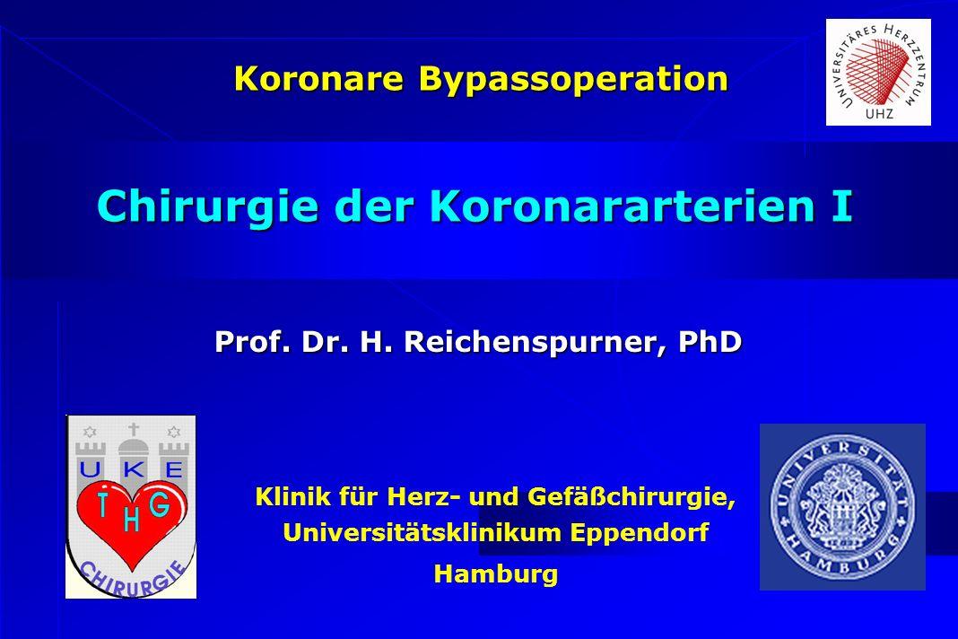 Klinik für Herz- und Gefäßchirurgie, Universitätsklinikum Eppendorf Hamburg Chirurgie der Koronararterien I Koronare Bypassoperation Prof. Dr. H. Reic