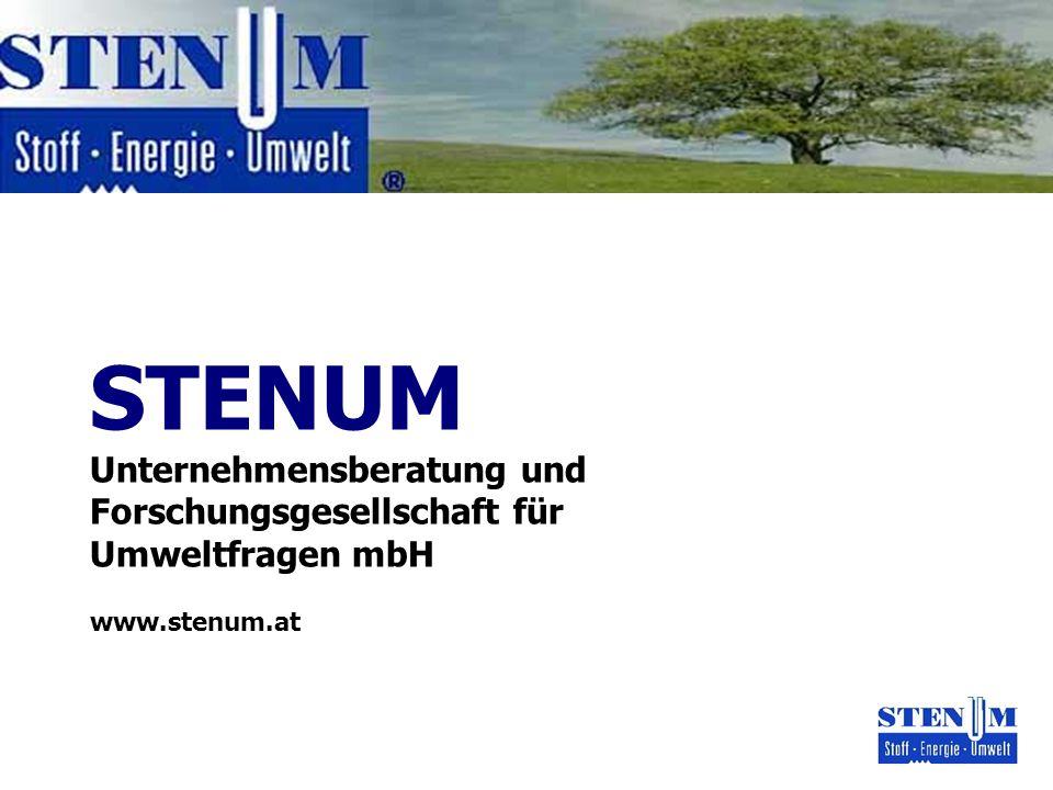 STENUM Unternehmensberatung und Forschungsgesellschaft für Umweltfragen mbH www.stenum.at