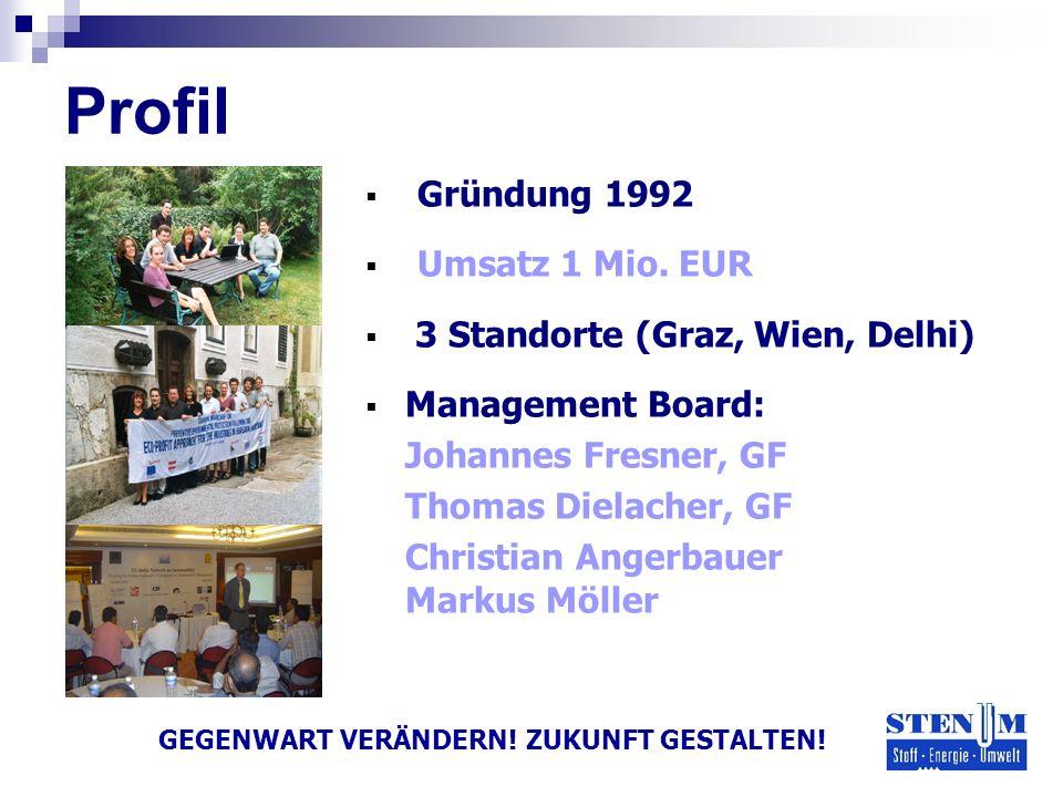 Gründung 1992 Umsatz 1 Mio. EUR 3 Standorte (Graz, Wien, Delhi) Management Board: Johannes Fresner, GF Thomas Dielacher, GF Christian Angerbauer Marku