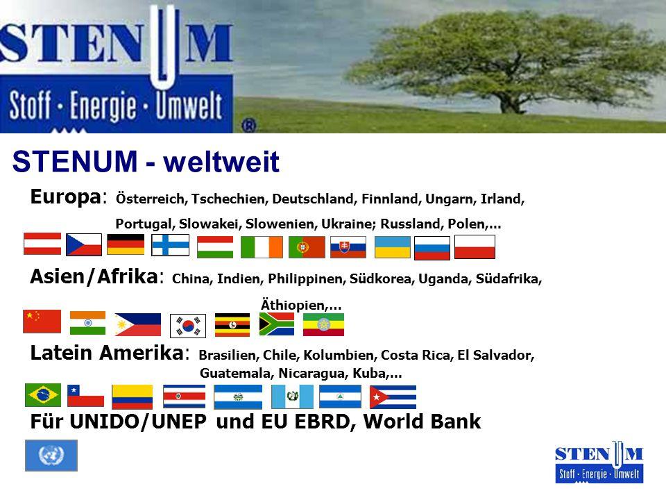 STENUM - weltweit Europa: Österreich, Tschechien, Deutschland, Finnland, Ungarn, Irland, Portugal, Slowakei, Slowenien, Ukraine; Russland, Polen,... A