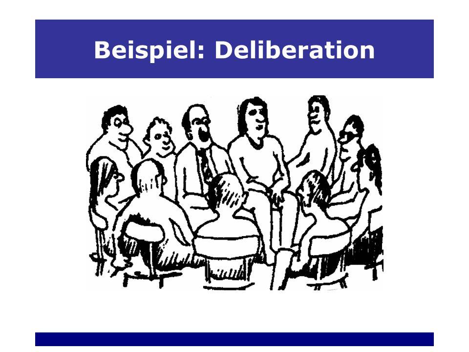 Beispiel: Deliberation Von lateinisch libra = Waage abgeleitet Deliberation bedeutet abwägendes Sprechen