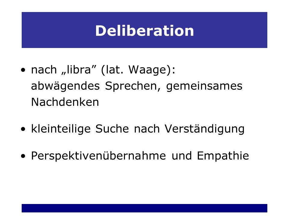 Deliberation nach libra (lat.