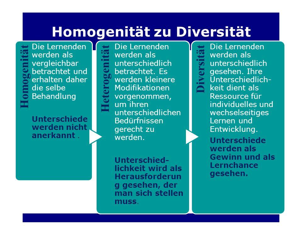 Homogenität zu Diversität