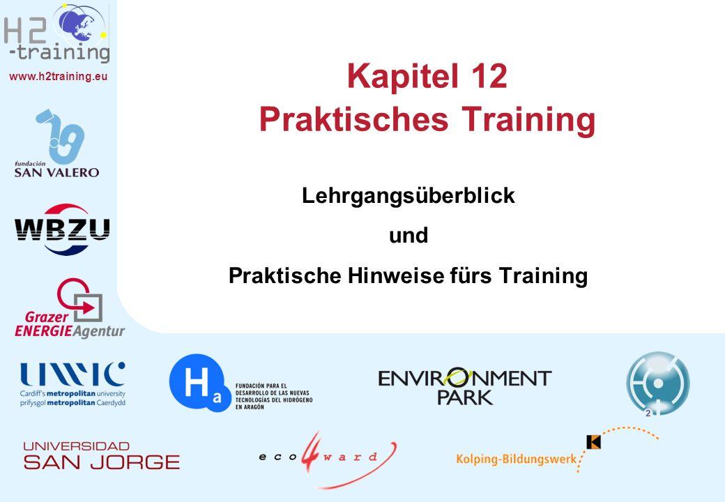www.h2training.eu Kapitel 12 Praktisches Training Lehrgangsüberblick und Praktische Hinweise fürs Training
