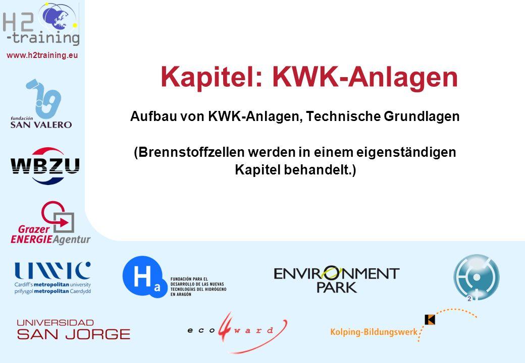 www.h2training.eu Kapitel: KWK-Anlagen Aufbau von KWK-Anlagen, Technische Grundlagen (Brennstoffzellen werden in einem eigenständigen Kapitel behandel