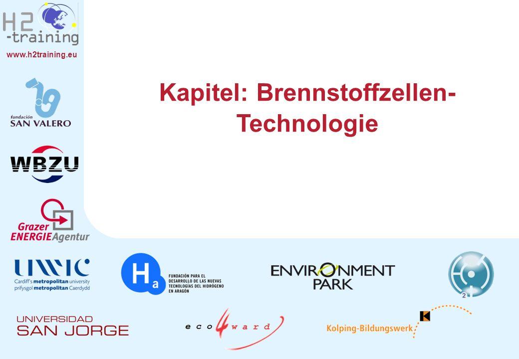 www.h2training.eu Leistungspotenziale in der praktischen Anwendung Brennstoffzellen Dampf- und Gasturbinen Diesel Benzin Elektrische Ausgangsleistung Efficiency I