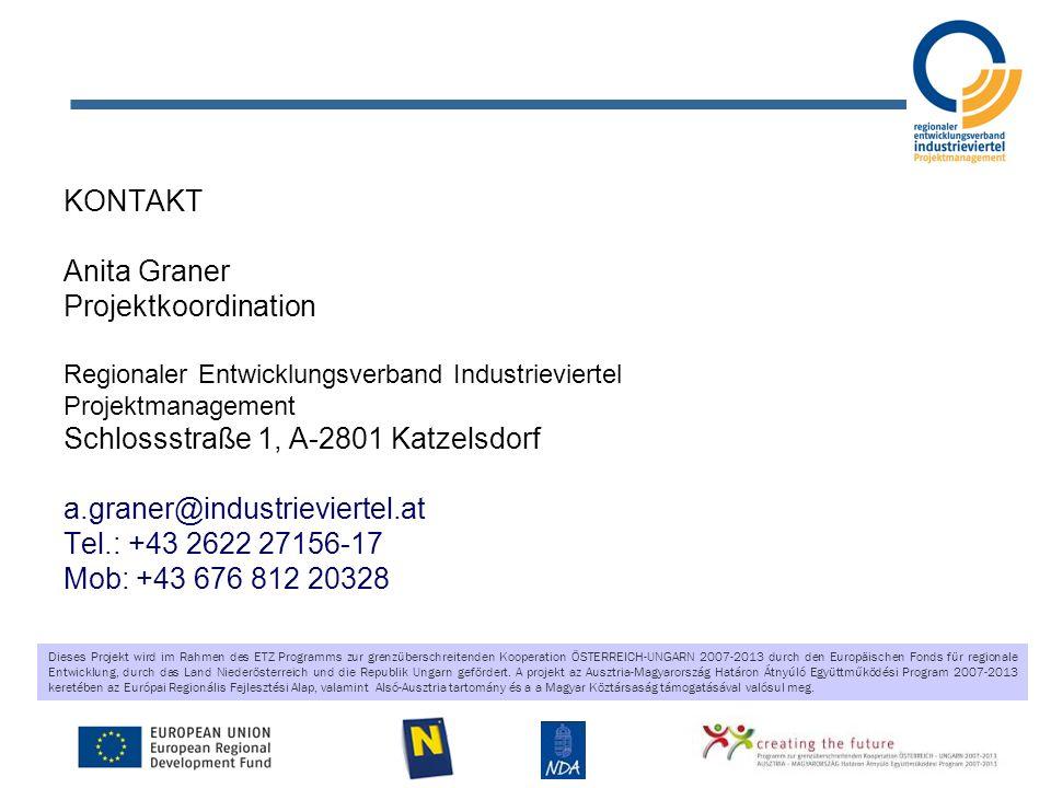 Dieses Projekt wird im Rahmen des ETZ Programms zur grenzüberschreitenden Kooperation ÖSTERREICH-UNGARN 2007-2013 durch den Europäischen Fonds für reg