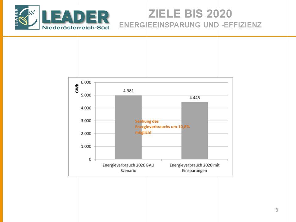 8 ZIELE BIS 2020 ENERGIEEINSPARUNG UND -EFFIZIENZ