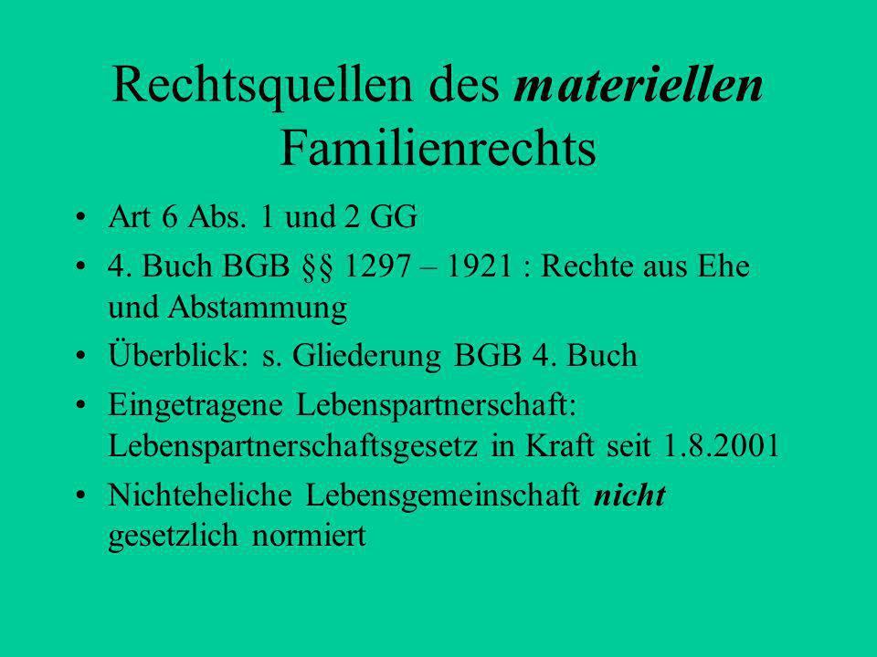 Rechtsquellen des materiellen Familienrechts Art 6 Abs.