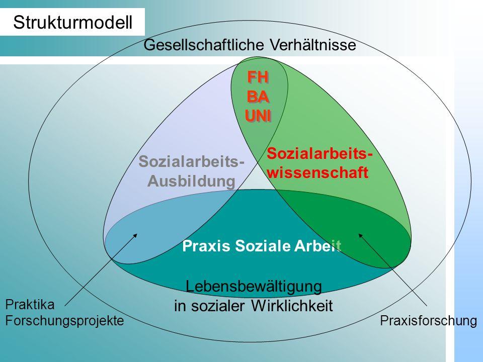 Dr. Udo Gnasa Gesellschaftliche Verhältnisse Praxis Soziale Arbeit Lebensbewältigung in sozialer Wirklichkeit Sozialarbeits- Ausbildung Sozialarbeits-