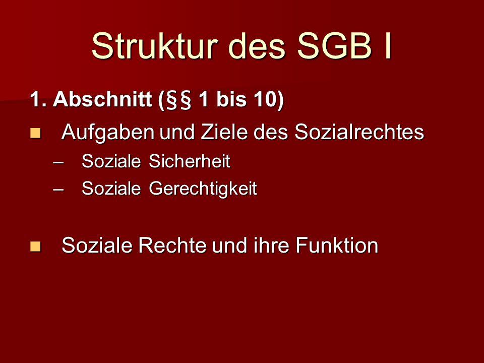 Struktur des SGB I 1.