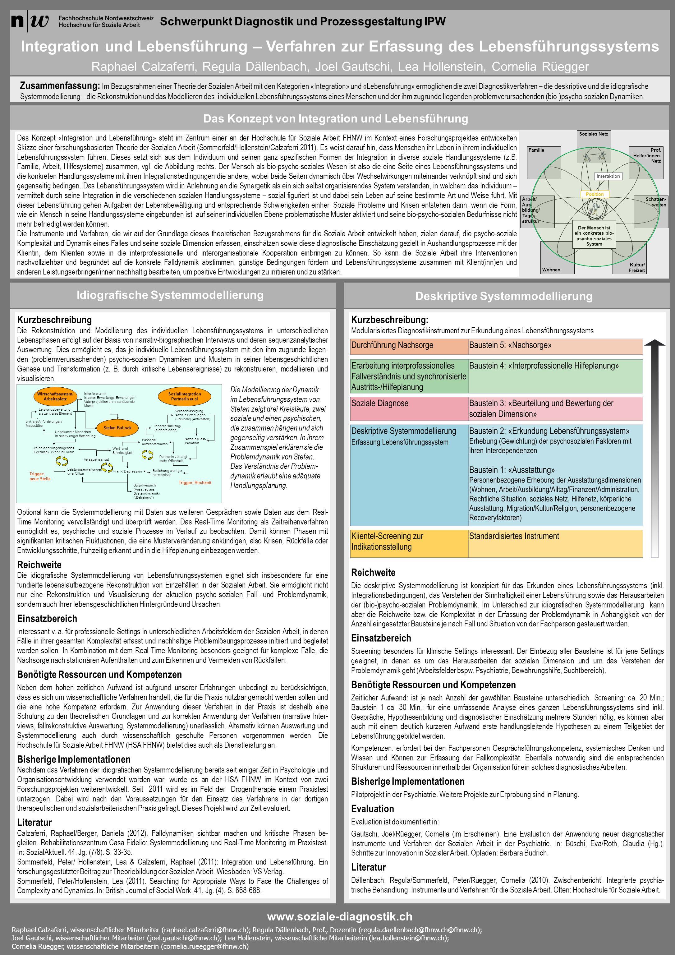 Kurzbeschreibung: Modularisiertes Diagnostikinstrument zur Erkundung eines Lebensführungssystems Reichweite Die deskriptive Systemmodellierung ist kon