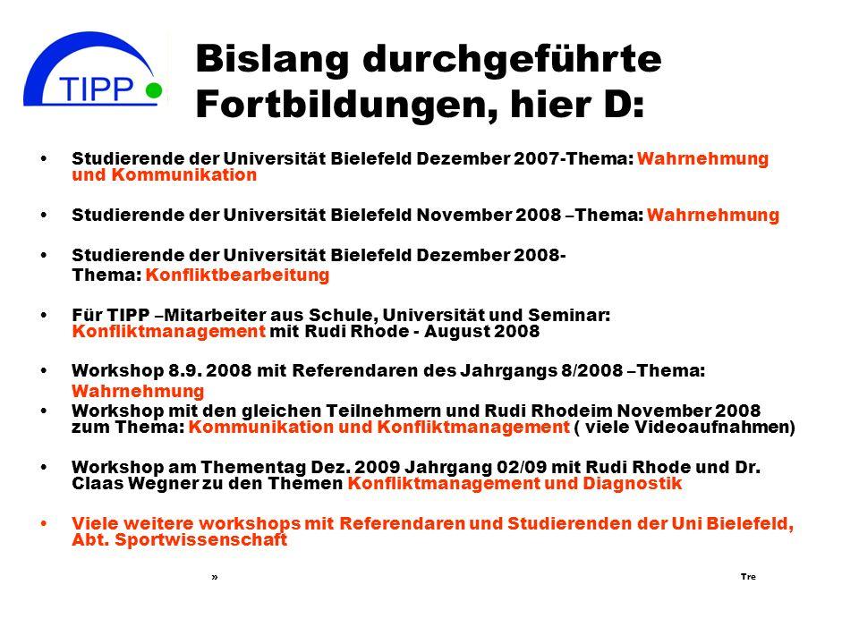 Europäisches Studienwerk Vlotho, April 2008 Didacta Februar 2009 in Hannover Vorstellen des Projektes in Bonn ( PAD-Tagung, Mai 2009 ) Frau Prof. Dr.